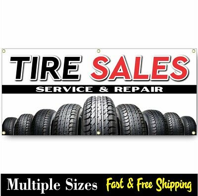 Tire Sales Banner Sign Sale New Used Alignment Auto Repair Brakes Muffler 002