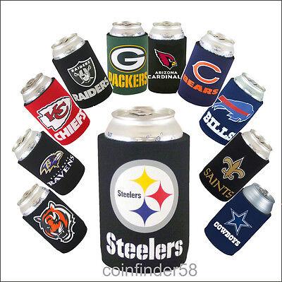 NFL Football Can Kaddy Koozie Drink Holder- Pick Team