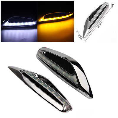 1Pair Car Motorcycle Universal Two-color LED Modified Steering Light Fender Side