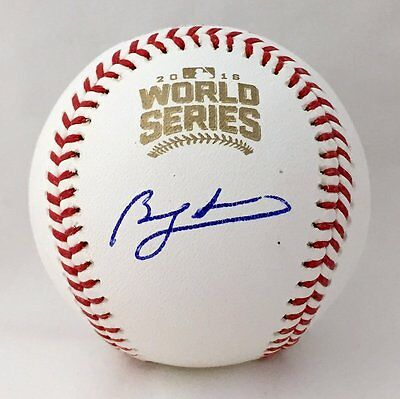 Chicago Cubs Ben Zobrist Autographed 2016 World Series Baseball USA SM Auth
