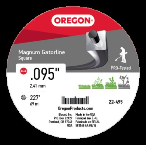 "Oregon 22-495 Gatorline Heavy-Duty Professional Magnum 1lb Coil of .095/"" x 227/'"