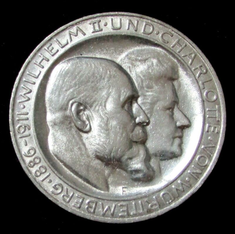 1911 A SILVER GERMANY PRUSSIA 3 MARKS KAISER WILHELM II COIN HIGH GRADE