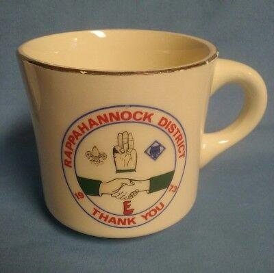 VINTAGE BSA COFFEE MUG RAPPAHANNOCK DISTRICT BOY SCOUTS OF AMERICA