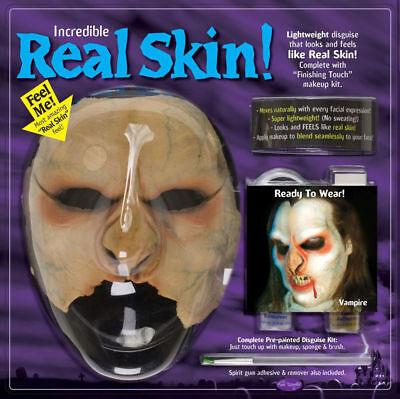 Morris Costumes Super Realistic Real Skin Vampire Halloween Mask Kit. FW9406V
