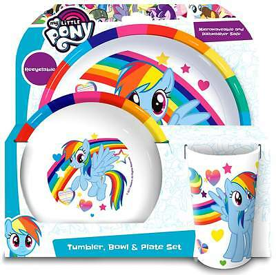My Little Pony 3-Piece Dinner Set | Tumbler, Bowl and Plate | Tableware