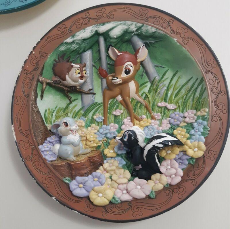 Lot Of 2 Disney Plates, Bambi made for the Disney theme parks/ Lion King hakuna