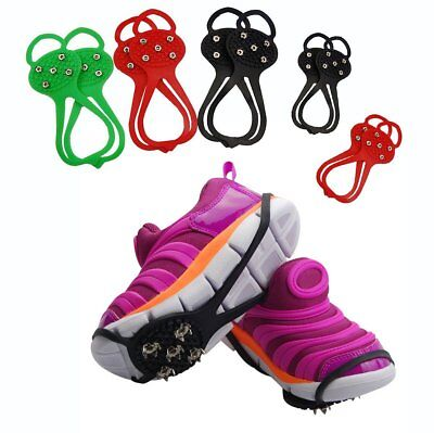 Ice Snow Traction Cleats Grippers Aids Device Cover For Shoes/Boots/Crampons