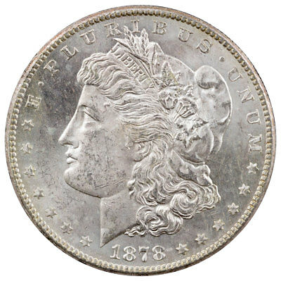 1878-S $1 Morgan Silver Dollar Uncirculated BU Coin SKU40612