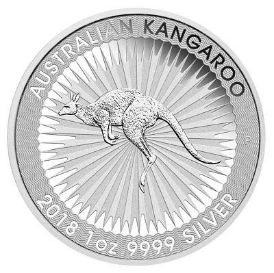 2018 P Australia 1 Oz Silver Kangaroo    1 Coin Gem Bu Sku49770
