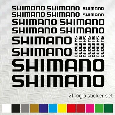 Compatible Shimano Sticker Sticker Set Decal Decal Bicycle Bike MTB BMX