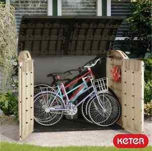 Keter Ultra Storage Shed Bin Bike Tool Garden Storage