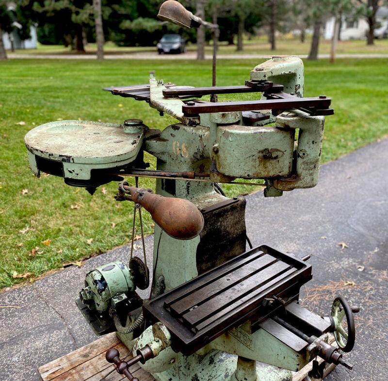 Vintage Gorton Pantograph Engraver Mill - Industrial Machinist Bridgeport