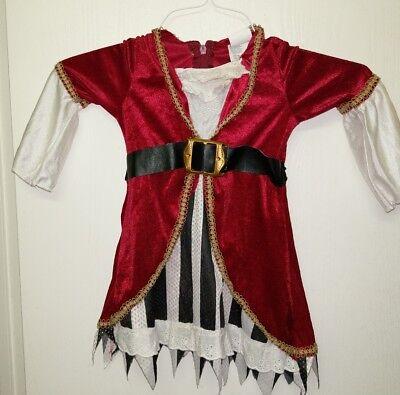 n Costume Renn Fair Renaissance Red Pirate Princess Dress (2t Halloween-kostüme)