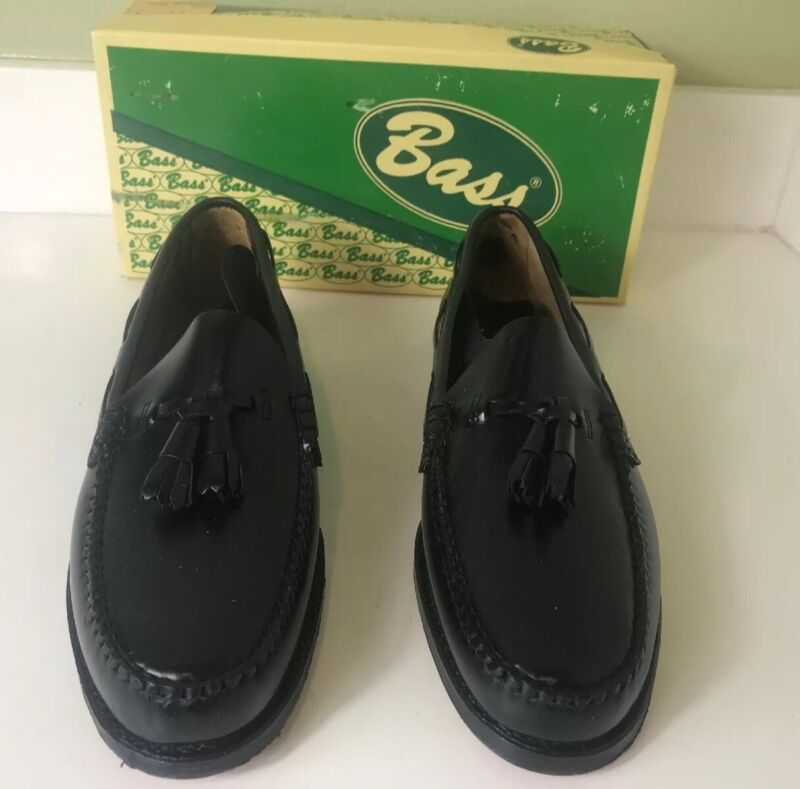Bass Vintage Mens Weejuns Size 9 1/2B New With Box Rare 0637
