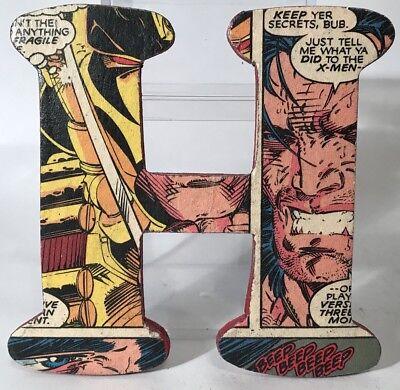 "ne Logan Repurposed Comic Book 4"" Letter H Home Decor Room (Wolverine Dekorationen)"