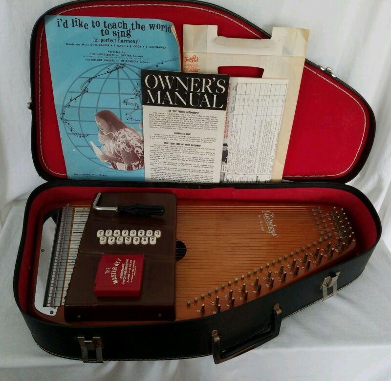 Vintage Oscar Schmidt OS15C Autoharp 15 Chord Case Paperwork Accessories