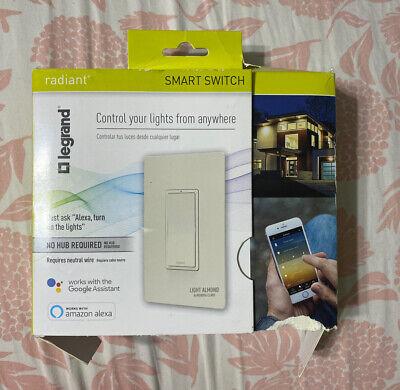 Legrand - Pass Seymour Radiant Smart Wi-fi Enabled Switch Light