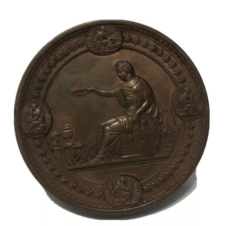Large U.S. 1876 Centennial Exposition Philadelphia Award Medal 76 MM, 285.0 Gm