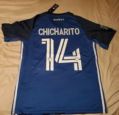 LA Galaxy Chicharito #14 Adidas Men's Away Jersey Blue