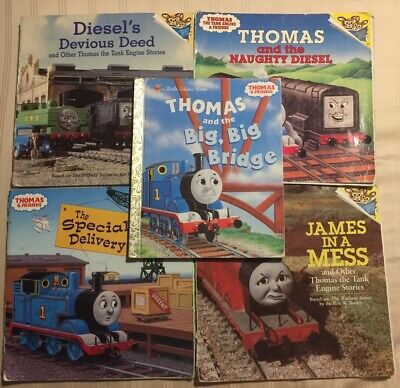 Lot of 5 Thomas the Train and Friends Childrens Books - 4 Paperback/1 Hardback