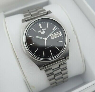 * ORIGINAL VINTAGE SEIKO 5 AUTOMATIC 7009-3170 ALL STAINLESS STEEL WATCH VGC *