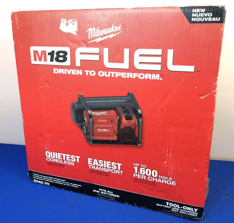 Milwaukee 2840-20 Compact Air Compressor NEW-Sealed