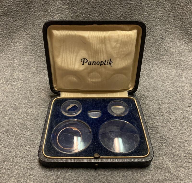 Vintage PANOPTIK Ophthalmology Lens Set with Orig. Case Bifocals