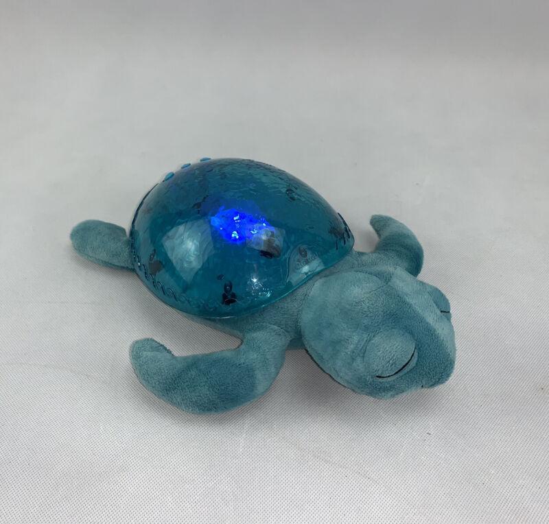 Cloud b Tranquil Turtle Ocean Aqua Both Sight & Sound Nightlight Tested Works