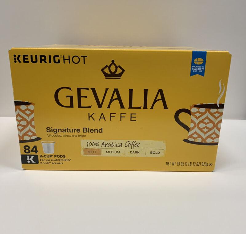 Gevalia Kaffe Coffee Signature Blend K Cups Pods For Keurig, 84 Count