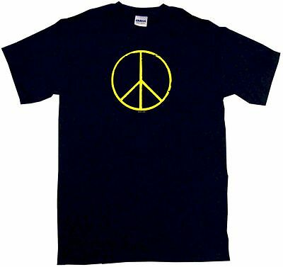 Peace Sign DISTRESSED Logo Mens Tee Shirt Pick Size Color Small 6XL S/S L/S Tank