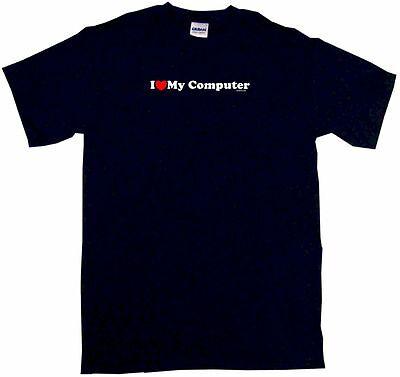 I Heart Love My Computer Kids Tee Shirt Boys Girls Unisex 2T Xl