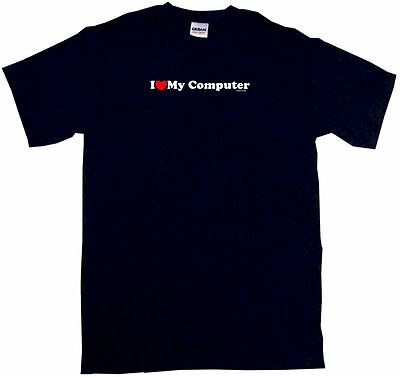 I Heart Love My Computer Mens Tee Shirt Pick Size   Color Small   6Xl