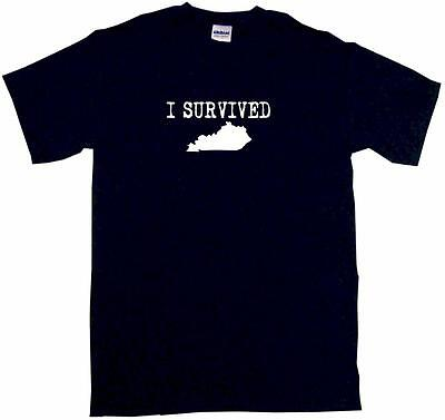 I Survived Kentucky Silhouette Mens Tee Shirt Pick Size Color Small-6XL ()