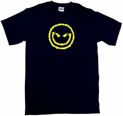 Evil Happy Face Logo Men's tee Shirt Pick Size SM - 6XL & Color - Happy Face Tee