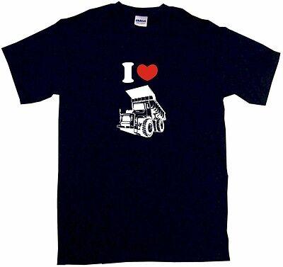 - I Heart Love Dump Truck Logo Mens Tee Shirt Pick Size Color Small-6XL
