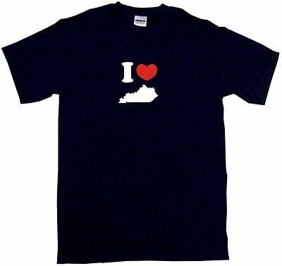 I Heart Love Kentucky Silhouette Kids Tee Shirt Boys Girls Unisex 2T-XL ()