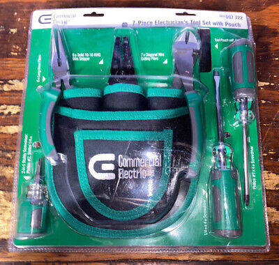 7-piece Electricians Tool Set With Pouch Brand New