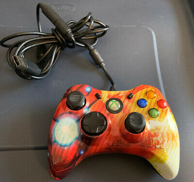 XBOX 360 MARVEL IRON MAN AVENGERS WIRED CONTROLLER