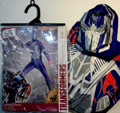 NEW TRANSFORMERS OPTIMUS PRIME Adult Halloween Costume Mens Medium M Skin Suit](Transformer Costume Adult)
