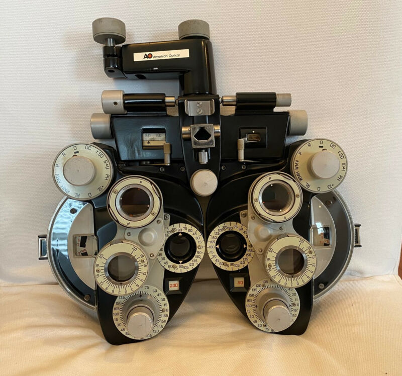 American Optical AO Phoropter Model 11625 Minus Cylinder - Excellent Condition
