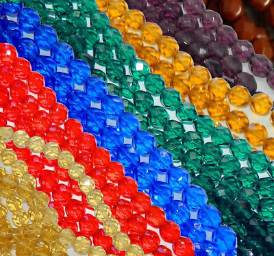 48 Beads Firepolish Faceted Round Czech Glass Loose Strung Beads 4mm (Firepolish 4mm Round Faceted Beads)