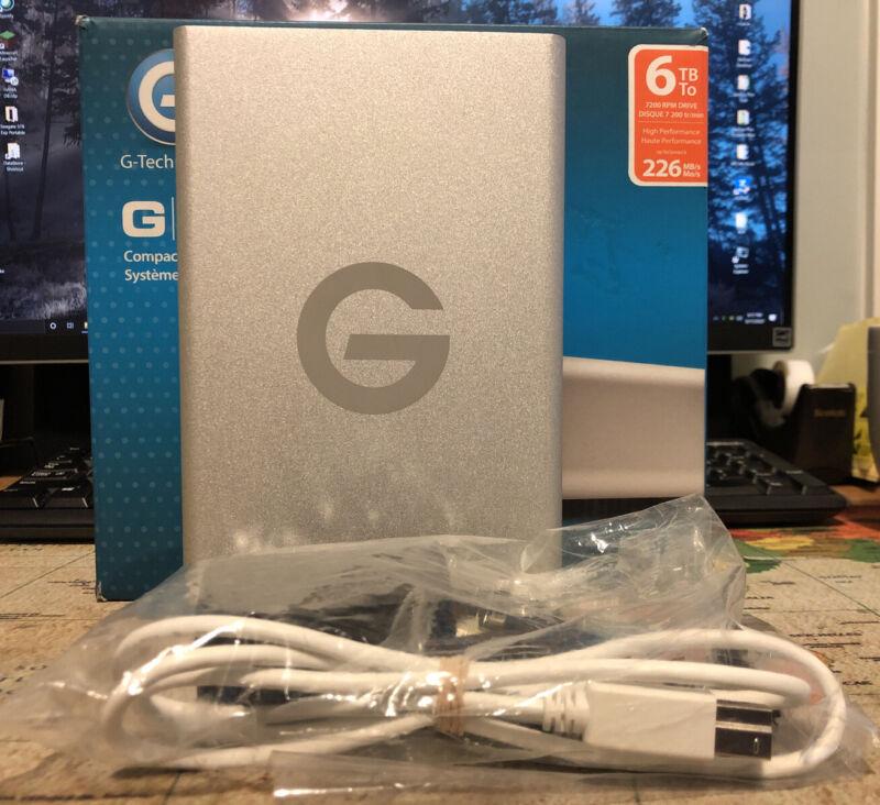 G-Technology 6TB G-DRIVE USB 3.0 Desktop External HDD Silver (0G03674) 22 Days