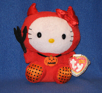 TY HELLO KITTY BEANIE BABY IN RED DEVIL COSTUME - MINT with MINT TAGS](Devil Babies)