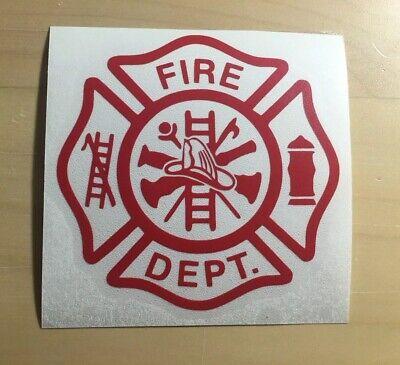 Firefighter Pride Car Window Vinyl Decal Fire Rescue