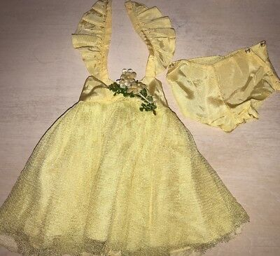 Doll Terri Lee Clothing Yellow Net Short Formal And Pants Tagged 1950's