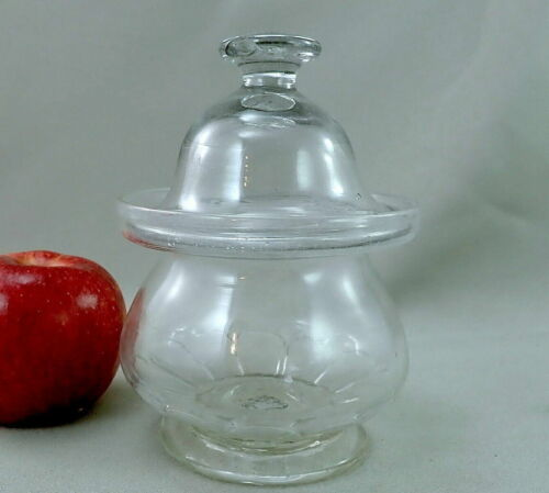 12 Panel Pittsburgh Blown Glass Sugar Bowl c. 1830