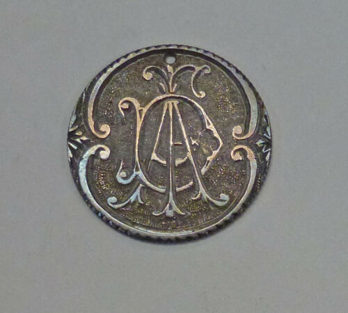 SEATED Liberty Quarter 25 ¢ LOVE TOKEN 4.2 gr. Possibly D A ??? Pretty Toning