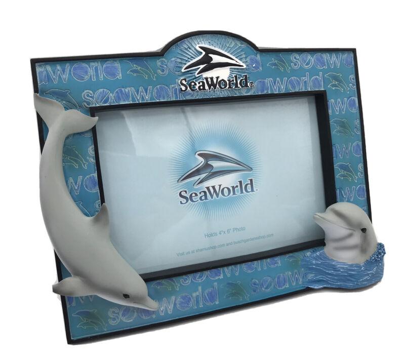 "SeaWorld Busch Garden 3D 4"" x 6"" Photo Frame Dolphins Shamu New"