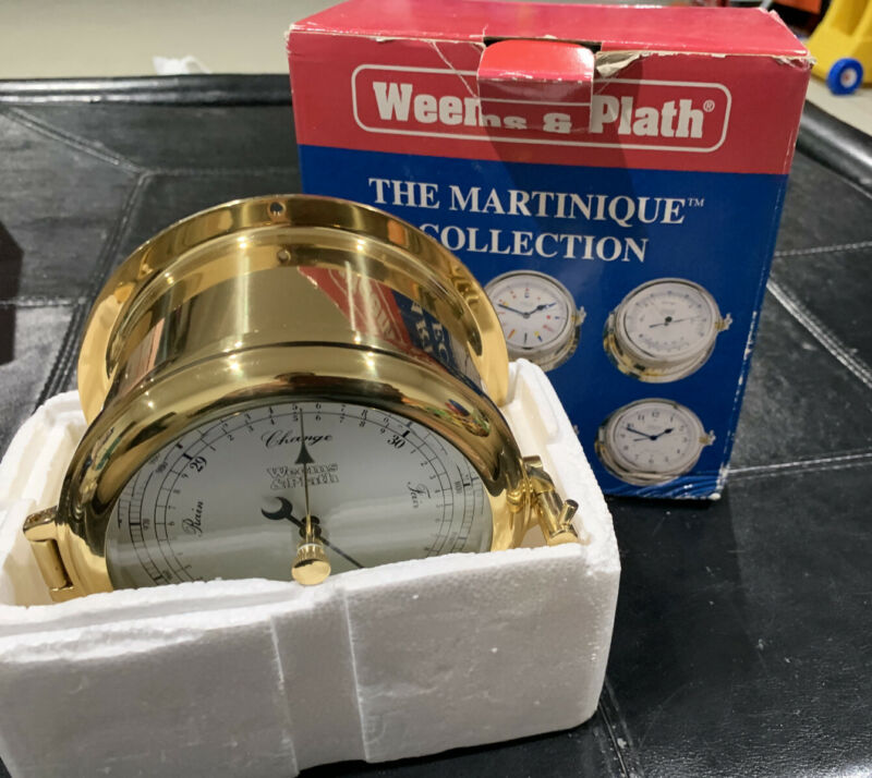 """Weems & Plath Cutter Barometer """"The Cutter Collection"""" Brand New!"""