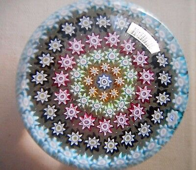 Vintage PERTHSHIRE GREEN PP3? Millefiori Art Glass Scottish Paperweight